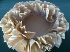 Wreath with coffee filters.. Work in progress