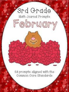 February 3rd Grade Common Core Math Journal Prompts