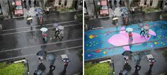 During the heavy rains of the 3 week monsoon season, Seoul Korea is transformed into a soggy grey metropolis and..