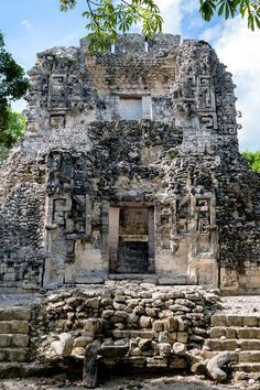 Collection - Mayan Ruins - Campeche IV by Philippe Hugonnard : Ancient Buildings, Old Buildings, Castle Ruins, Medieval Castle, Mayan Ruins, Ancient Ruins, Belgium Tourism, Maya Architecture, Scotland Castles