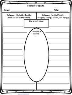 #free #character traits worksheet- click through for book recommendations for teaching character traits