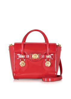 1987d618fd Versace Small Signature Eros Red Patent Leather Handbag
