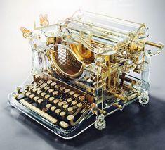 National Novel Writing Month, Antique Typewriter, Modern Typewriter, Vintage Typewriters, Le Far West, 3d Artist, Cool Stuff, Interesting Stuff, Fantasy Art