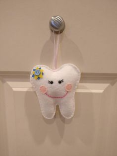 Tooth fairy pillow, Handmade, Ready to ship, felt toy, tooth decoration, mini plush magical pillow