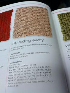 Slip Sliding Away knit pattern