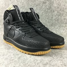best sneakers cb501 eab4f Mens Nike Lunar Force 1 Duckboot Trend Shoes United States all black Nike  Stiefel, Nike