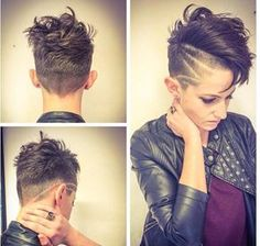 Are there any ladies here who like a comb with shaved sides? Be surprised by these 10 short hairstyles with a very cool Mohawk! Short Hair Undercut, Undercut Hairstyles, Funky Hairstyles, Pixie Haircut, Short Haircut, Pelo Pixie, Sassy Hair, Shaved Sides, Crazy Hair