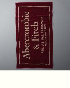Supersoft beach towel with logo graphic, Imported | US$38 | Store Item: 112-144-0034-208 / Web Item: 121647