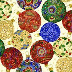 Mary Jo's Cloth Store - Fabrics - Ornamental Christmas - 7238 41 (Blank)