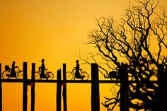 The U Bein Bridge near Mandalay is believed to be the oldest and longest teakwood bridge in the world. Amble slowly across it and discover it's uniqueness for yourself. For more ideas to travel to Myanmar, please visit: http://saffrontravel.net/myanmar-destination#tabs-7