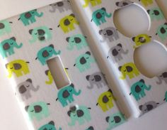 Elephant Light Switch Plate / Elephant by COUTURELIGHTPLATES