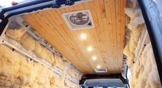 A step by step ceiling installation guide for campervan conversions. By using a plank ceiling for our conversion van, we ended with a beautiful ceiling Diy Van Conversions, Camper Van Conversion Diy, Plank Ceiling, Wood Ceilings, Van Conversion Bed Frame, Van Insulation, Rent A Campervan, Luxury Campers, Diy Roofing