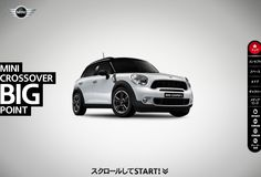 This website simply features the capacity of MINI Countryman (Crossover in Japan) with an entertainment of smooth scroll.