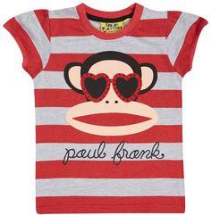 Fabric Flavours Girls Paul Frank T-Shirt