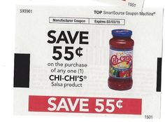 CHI-CHI's Salsa Product  - 03/03/2015 - (10) - $0.55 on ONE (1)