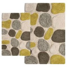 2-Piece Stones Bath Mat Set in New Willow