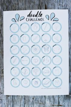 Need some doodle challenge or inspiration? Join the 30 day doodle challenge and doodle with me this month! Bullet Journal 30 Days, Bullet Journal For Beginners, Bullet Journal Layout, Bullet Journal Inspiration, Sketch Journal, 30 Day Challenge Journal, 30 Day Drawing Challenge, Challenge Ideas, Planner Doodles