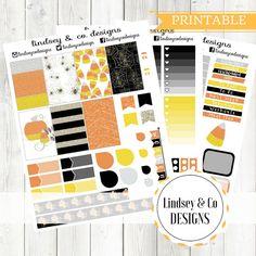 Trick or Treat - BIG Happy Planner Printable  Halloween Themed Sticker Kit