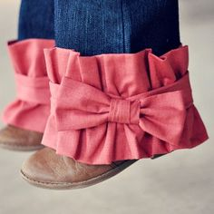 Give an old pair of jeans a fashionable makeover. You can sew Ruffled Pant Cuffs onto any pair of jeans to give them some flair.