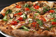 "Pizza ""light"" with grilled vegetables"