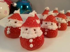 Aardbeien kerstmannentjes