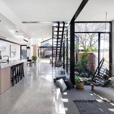 A multi functional space near the kitchen - so you can keep an eye on the kiddies Both chairs from Project by New Interior Design, Interior Design Inspiration, Home Decor Inspiration, Modern Interior, Guest Bedrooms, Open Plan, Kitchen Design, Floor Plans, House Design
