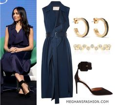 28 February 2018 - What Meghan Markle wore for Royal Foundation Forum. Click for outfit details