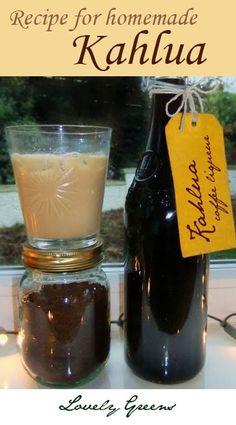 How to make Kahlua - Everyone's Favourite Coffee Liqueur (fun drinks alcohol sugar) Homemade Alcohol, Homemade Liquor, Homemade Kahlua Recipe With Instant Coffee, Cocktail Drinks, Alcoholic Drinks, Beverages, Cocktail Recipes, Kahlua Recipes, Homemade Liqueur Recipes