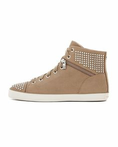 Studded Hi-Top Sneaker by MICHAEL Michael Kors at Neiman Marcus.