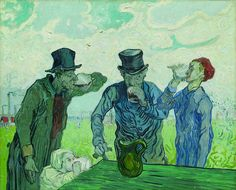 Vincent van Gogh, I bevitori o Le quattro età dell'uomo (da Daumier), 1890 The Art Institute of Chicago, Chicago, Joseph Winterbotham Collection by Art in-Forma, via Flickr