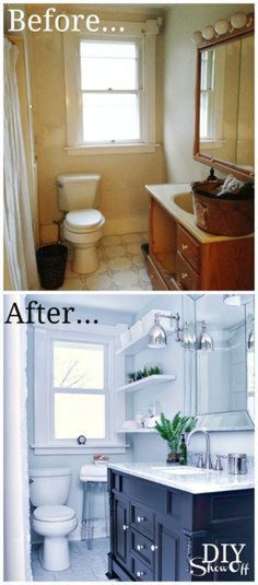 Outstanding On A Budget Apartment Bathroom Renovation Before and After: 30 Best … , - Modern Rental Bathroom, Diy Bathroom Remodel, Bathroom Renovations, Home Renovation, Bathroom Ideas, Lowes Bathroom, Caravan Renovation, Restroom Remodel, Master Bathroom