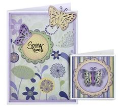 Butterfly Card and Gift Tag - McGill Inc.Design By: Janine Blackwelder  Lacey Silhouette Butterfly punch makes unique cards and gift tags for all occasions.