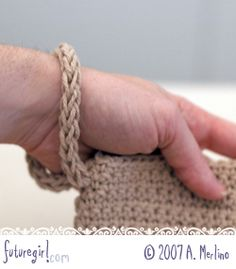Wristlet straps using Wonder Knitter from futuregirl craft blog