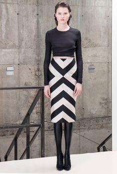 Alix Skirt #silk #taffeta #chevron #pencilskirt