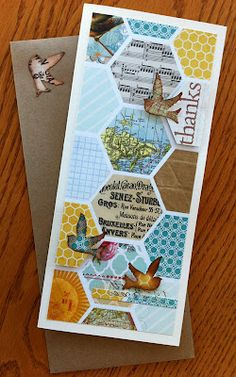 great use of punches and papers; handmade card