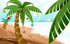 Tropical Palm Trees Clipart   Photo Stock Gallery