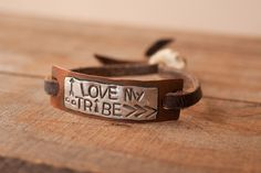 I Love My Tribe w/ Antler Clasp