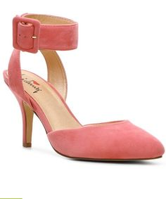 Pink ankle strap