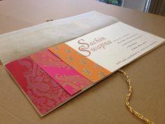 Indian wedding card.