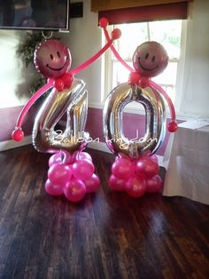 Funky number balloons
