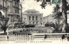Square de la gare de Palavas, vers 1900 Montpellier, Taj Mahal, Building, Travel, Train Station, Viajes, Buildings, Destinations, Traveling