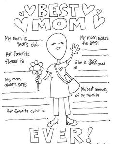 You are going to love these darling free printable Mother's Day coloring pages! They make the perfect card for Mom. You are going to love these darling free printable Mother's Day coloring pages! They make the perfect card for Mom.