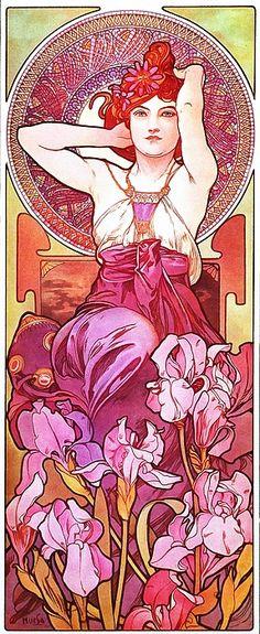 Alphonse Mucha: Amethyst/ L'Amethyste (