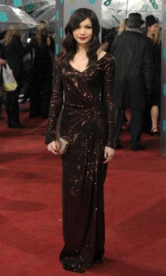 GEMMA CHAN IN RAFAEL LOPEZ / BAFTAS AWARDS 2013 LONDON