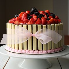 Basket of berries cake. yum