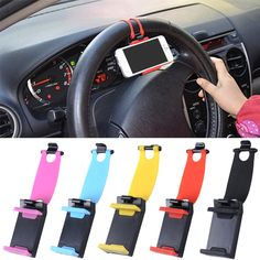 Universal Car Phone Holder Bracelet For Iphone 6 Plus 5s Steering Wheel Car Stand Mount for Samsung Note Series GPS Smart Phone