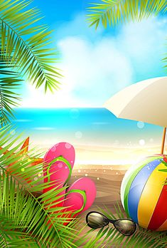 Poster Background Design, Beach Background, Vector Background, Background Images, Cellphone Wallpaper, Iphone Wallpaper, Art Plage, Montage Photo, Summer Wallpaper