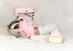 newborn photography, newborn pose, baking baby, kitchen aid newborn prop, baking baby newborn session www.lezleyalbaphotography.com Newborn Poses, Newborn Session, Baby Newborn, Newborn Pictures, Baby Pictures, Newborn Photography, Photography Ideas, Pregnancy, Maternity