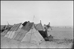 March Tents in an internment camp for Spanish refugees. (From the Mexican Suitcase)//Robert Capa Indira Ghandi, Magnum Photos, Civilization, Spanish, Camping, War, Pictures, Tents, Suitcase
