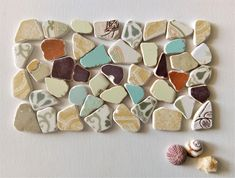 Pastel, Mix Color, Genuine ,Beach pottery, Tile Shards Sea Urchin Shell, Euro Coins, Thing 1, Color Mixing, No Response, Art Projects, Mosaic, Tile, Finding Yourself